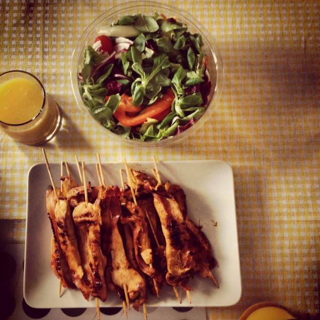 BBQ Chicken Bacon Kebabs, Chicken Skewers