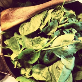 cooking spinach, spinach dish