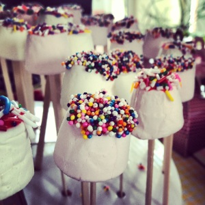 Kids party marshmallows