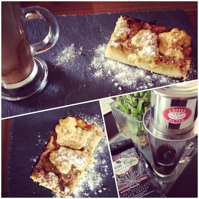 Rhubarb pie with coffee, Galway Blog