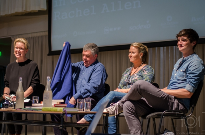 Donal Skehan, Nessa Robins and Simon Hopkinson in conversation with Rachel Allen